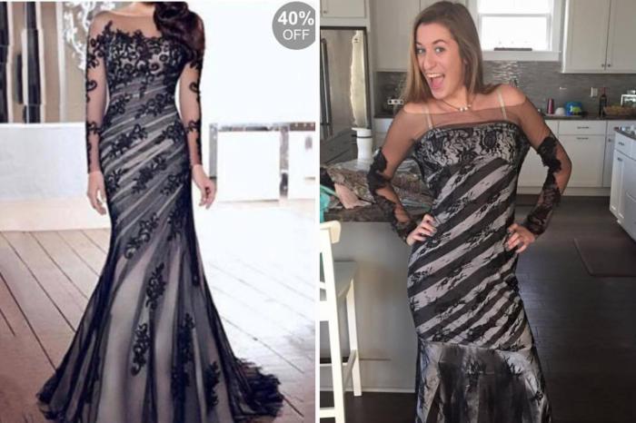b938e9f4317f 30 адовых платьев на выпускной из Интернета  ожидание и реальность
