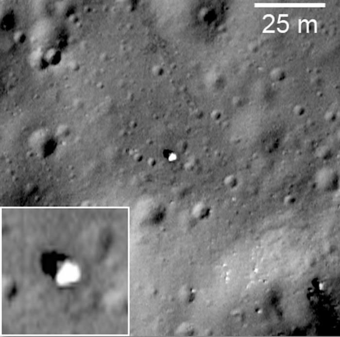 Фото мест посадок земных аппаратов на Луне