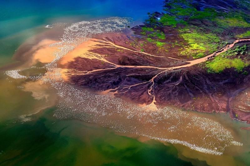 Солевые отмели природа, фотографии