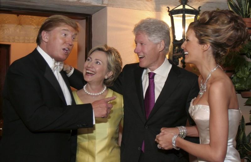 6. Хиллари Клинтон получала пожертвования от Дональда Трампа и была на его свадьбе Хиллари Клинтон, факты