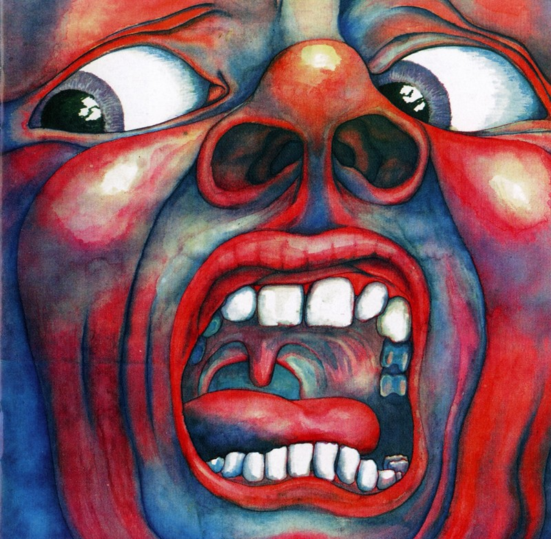 "6. King Crimson ""In the Courth in the Crimson King..."" меломания, музыка, обложки"