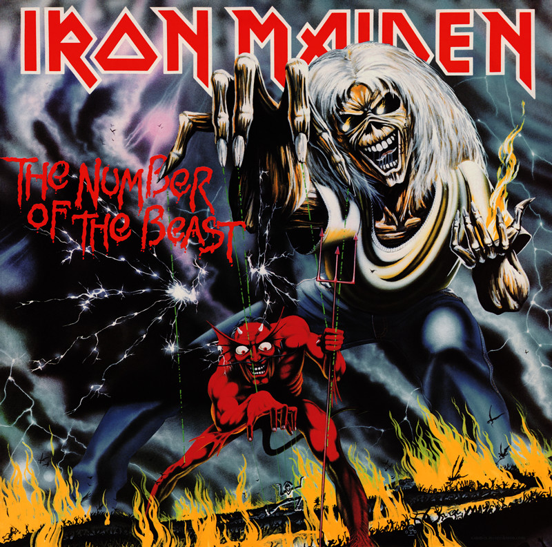 "14. Iron Maiden ""The Number of the Beast"" меломания, музыка, обложки"