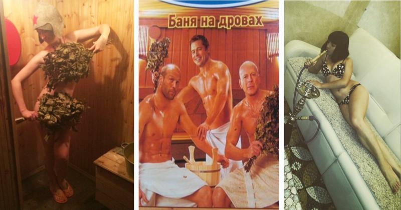 Секс в бане с парильщиком видео