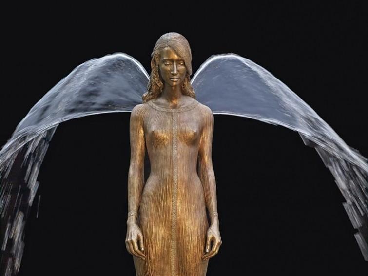 Поэтические и изящные скульптуры, дополненные струями воды вода, скульптуры