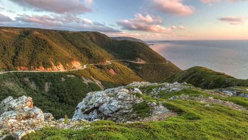 The Cabot Trail, Канада авто, дороги, путешествие, трасса