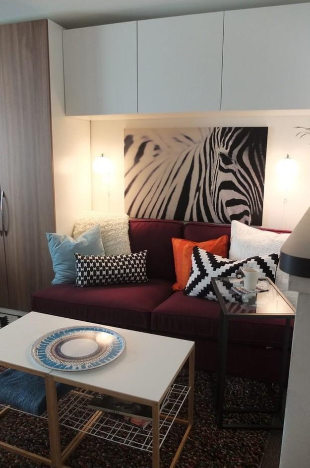4. И постарайтесь выбрать диван поменьше интерьер, квартира, советы, хитрости