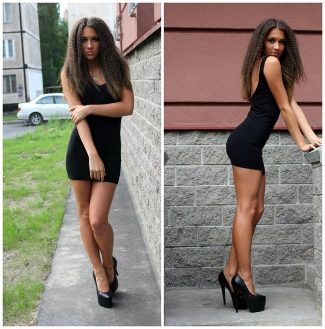 Девушки с худыми ногами на каблуках