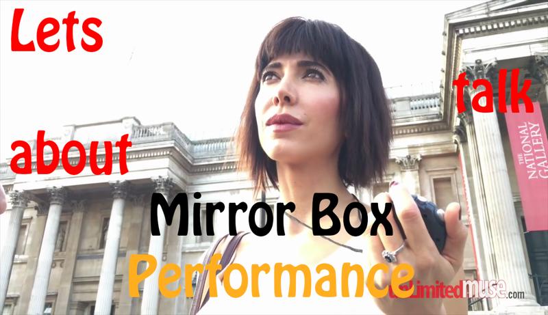 поговорим о Milo Moire перформанс с зеркальной коробкой всем кто