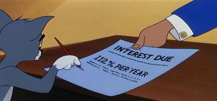 Ставка: 112% годовых кредит, мультфильм, прикол