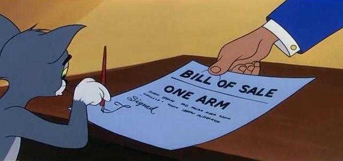 В качестве залога: одна рука... кредит, мультфильм, прикол