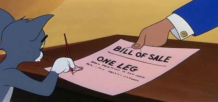 ...и одна нога кредит, мультфильм, прикол