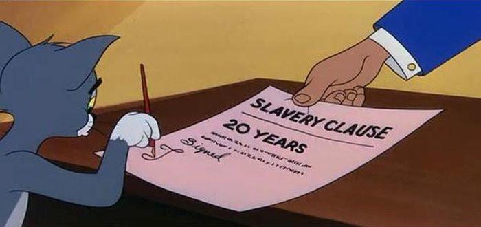 Дополнительное условие: 20 лет рабства кредит, мультфильм, прикол