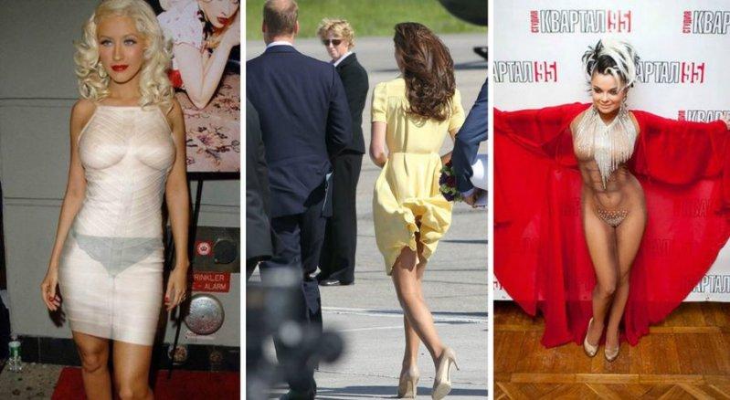 русские звезды не носящие нижнего белья