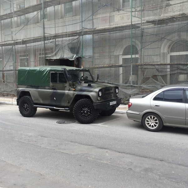 На дорогах столицы замечен необычный УАЗ авто, история, уаз