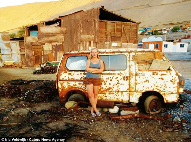 А этот снимок сделан в Чили автостопом, девушка, путешествие