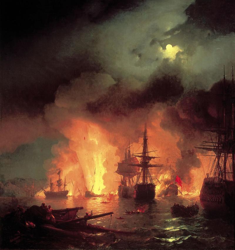 8. Чесменский бой (1770 год) Русский воин, армия, война, победа