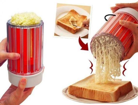 Штуковина, с которой вы больше не будете намазывать масло на хлеб ножом  изобретения, ноу-хау, прикол, юмор