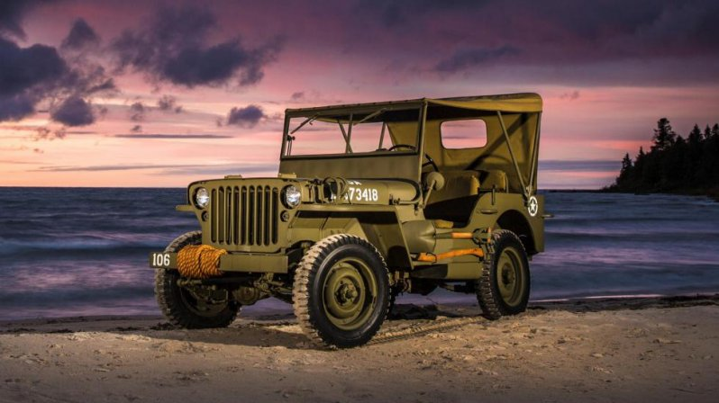 За рулем Jeep Willys 1944 года Willys, jeep, тест-драйв