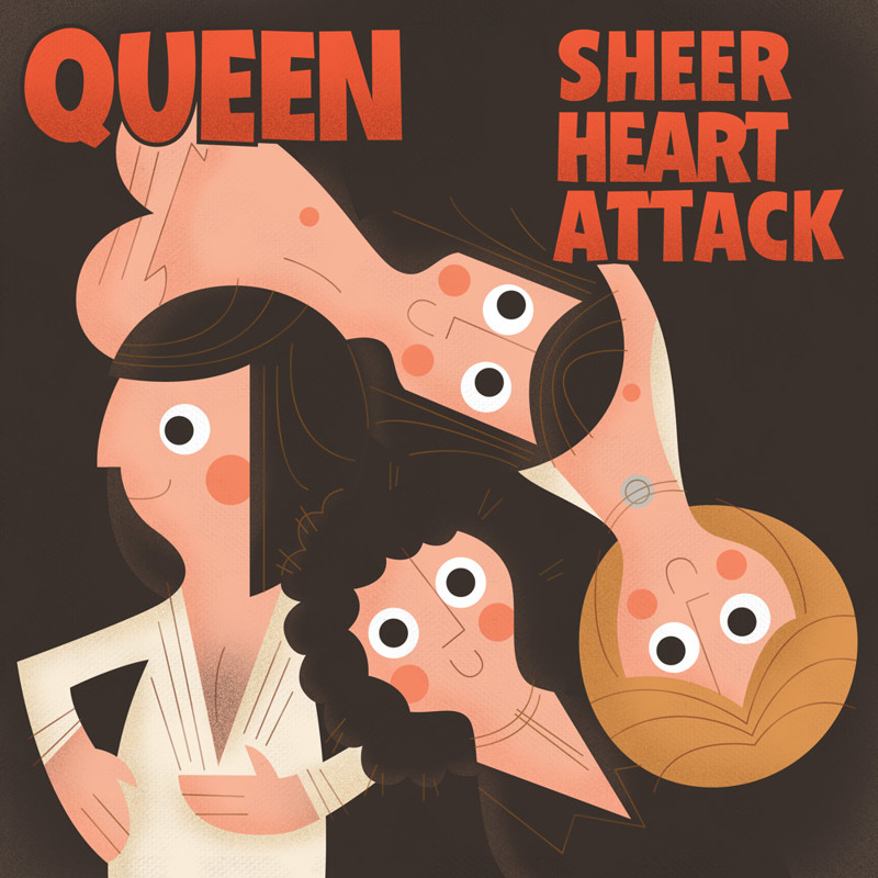 "8. Queen ""Sheer Heart Attack"" covers, music, прикол, юмор"