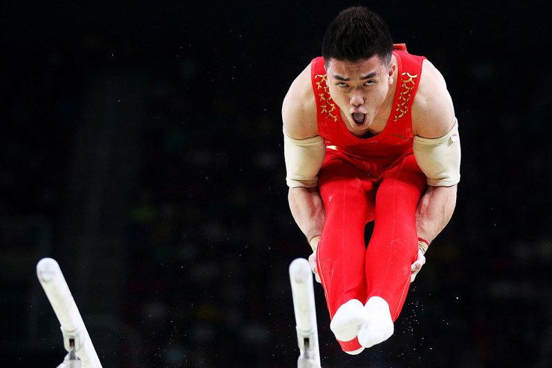 Лицо китайского гимнаста. олимпиада, рио2016, спорт