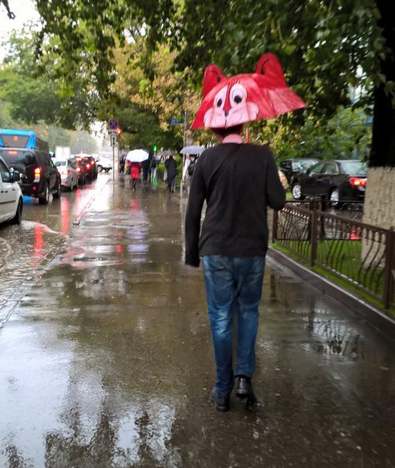 Он скрасил этот хмурый понедельник апокалипсис, дождь, ливень, москва, столица