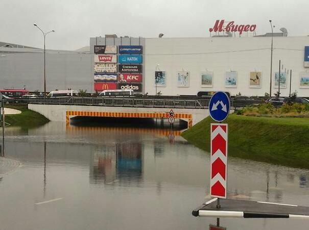 Это Мага - Белая Дача. Высота тоннеля составляет 3 метра апокалипсис, дождь, ливень, москва, столица