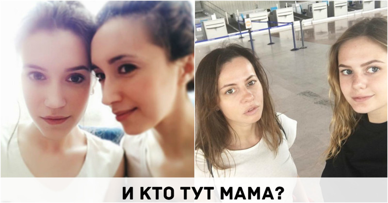 Мама бреет дочку