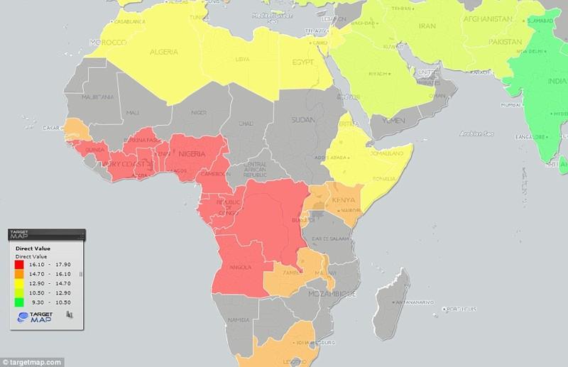 Географическая карта размеров пениса