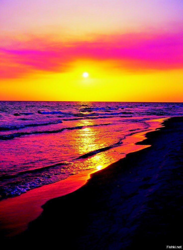 Очень красивые картинки заката на море
