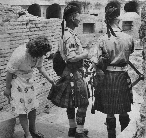 Шотландские солдаты в Италии, 1944 год. было, история, фото