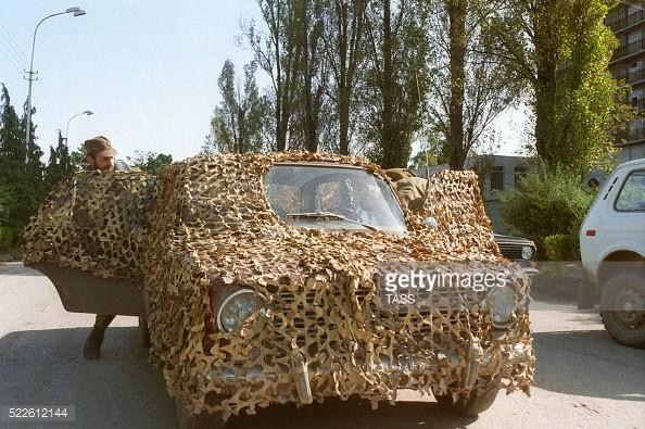 Замаскированная Копейка грузинских солдат, Грузия, 1993 год. было, история, фото
