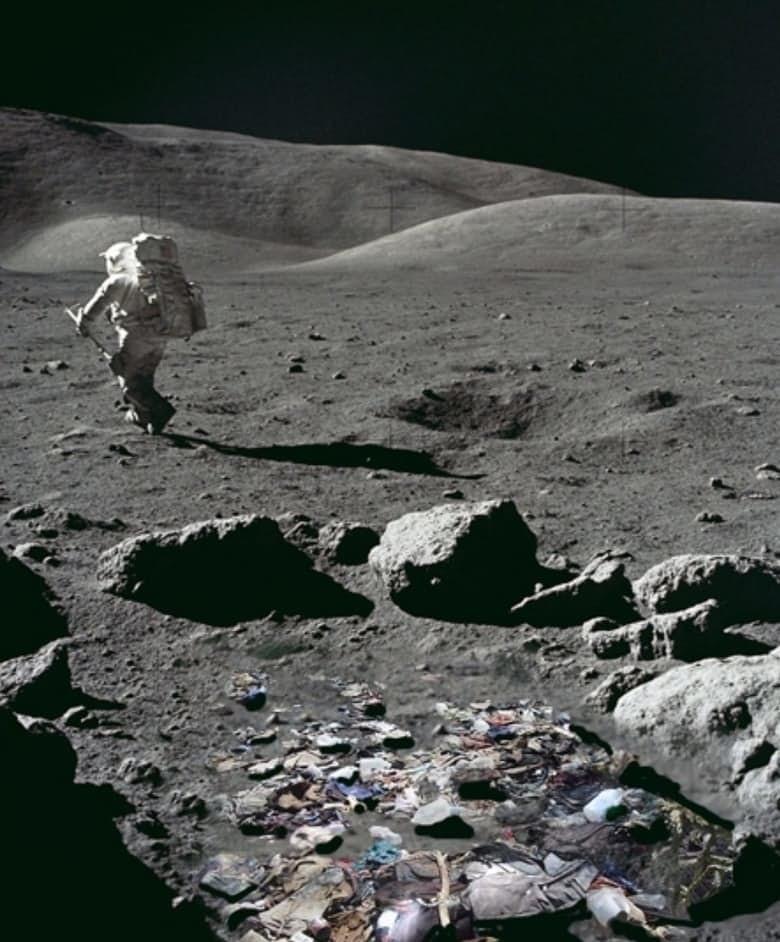 14. Лунный мусор луна, факт