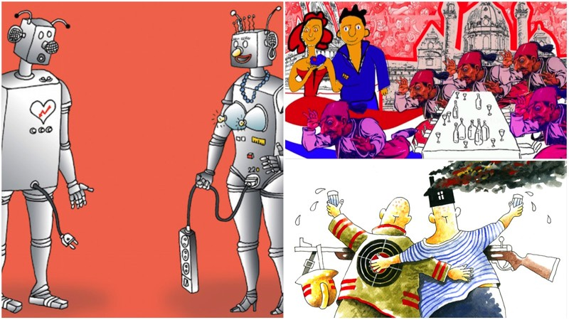 политическая карикатура :: политика / картинки, гифки, прикольные ...   450x800