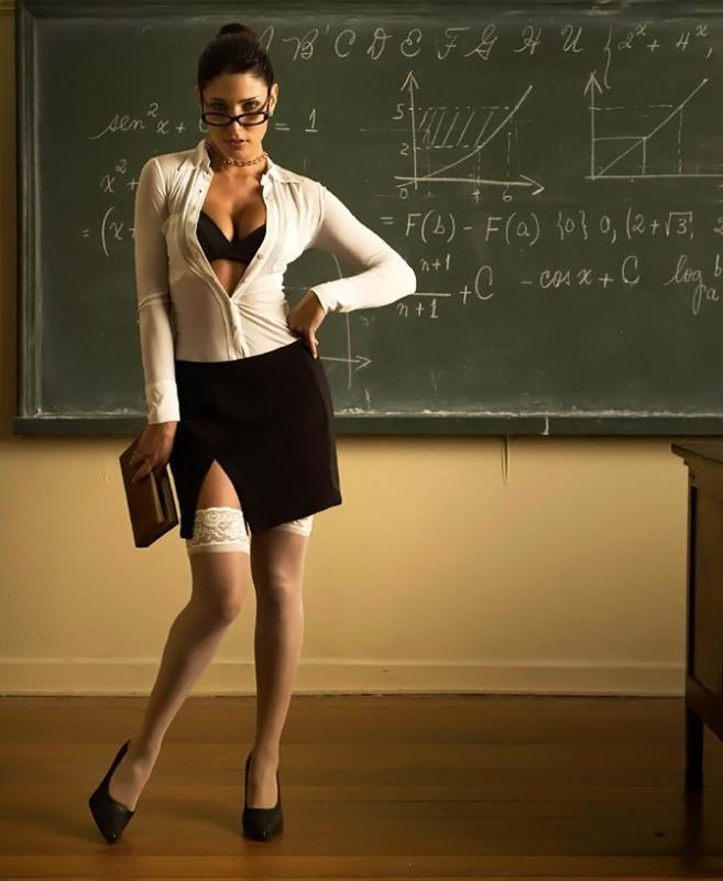 Учительница секс