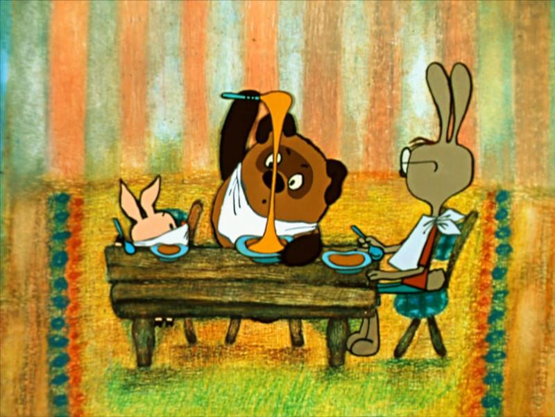 Винни-пух в гостях у кролика картинки