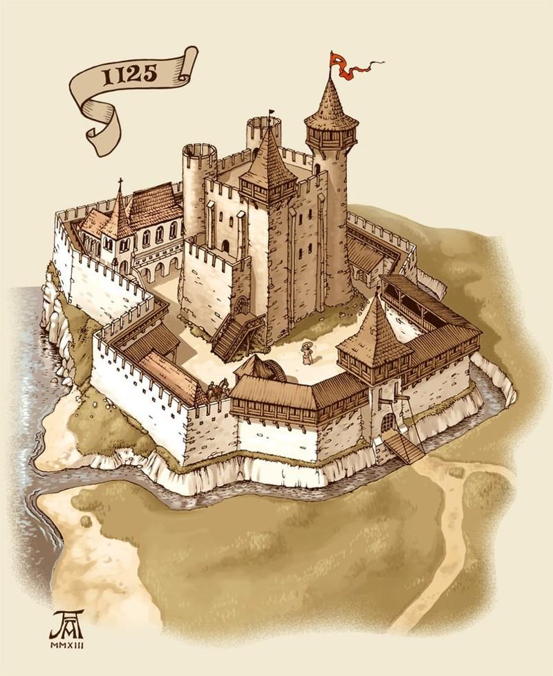 замок и его части картинки потом какой-то