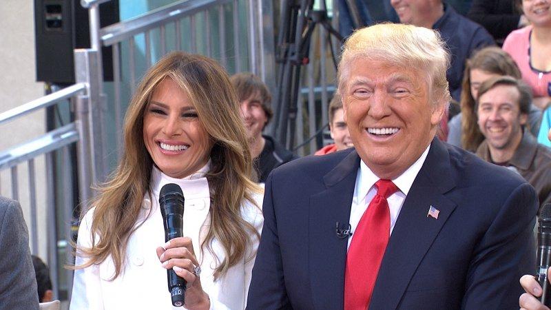 Дональд Трамп, избранный президент США, и его жена Меланья Кнавс Трамп, богатые жёны, миллиардеры, супруги