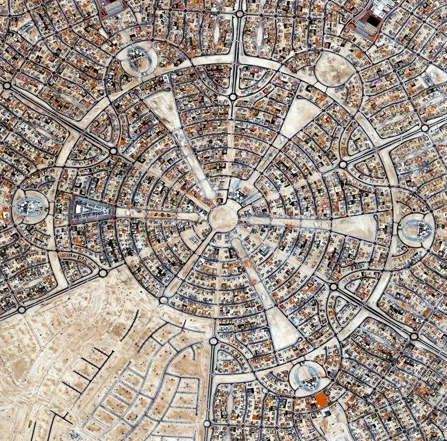 2. Аль Фалах, Абу  ОАЭ фото со спутника, фотограф Бенджамин Грант, фотографии
