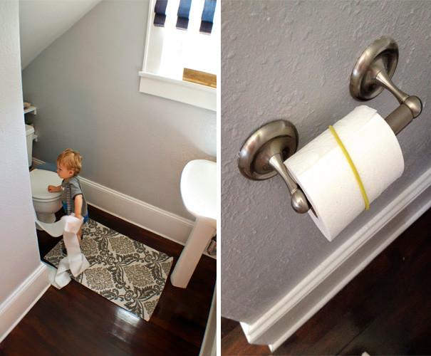 Если вы наденете резинку на рулон туалетной бумаги, его никто не размотает по всей квартире воспитание, дети, советы, хитрости