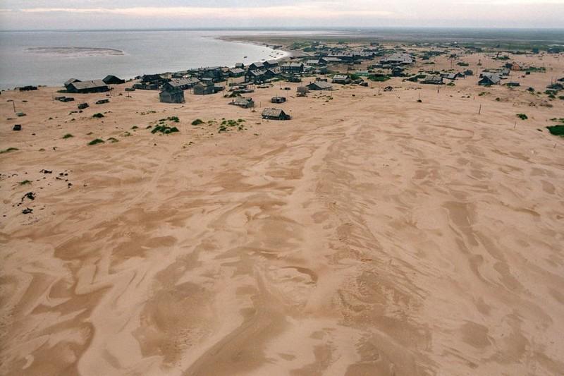 Русское село, заживо погребенное под песчаными дюнами Шойна, песок, село