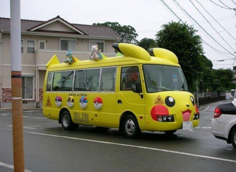 Открытки, смешные картинка автобуса