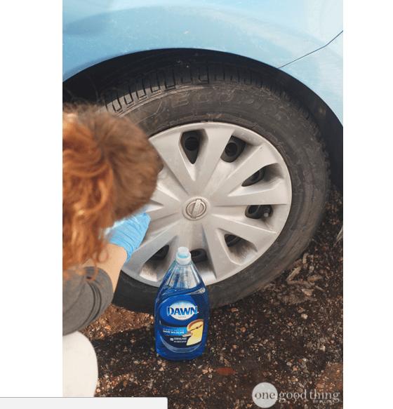 Отчистить автомобильный диски Хозяйке на заметку, голь на выдумки, советы, хитрости
