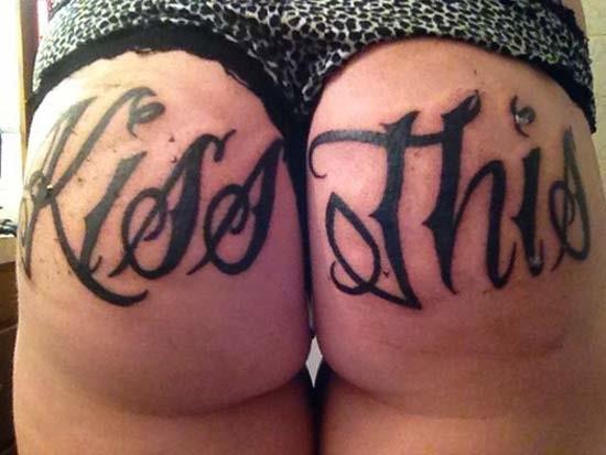 Фото женские жопы в тату