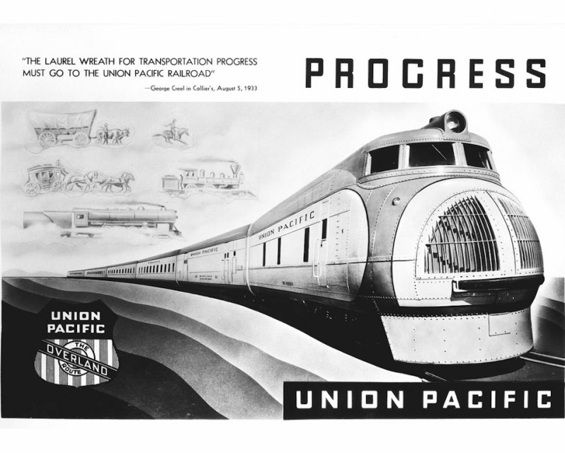 M-10000 для Union Pacific 1934 Streamliner, аэродинамика, поезд