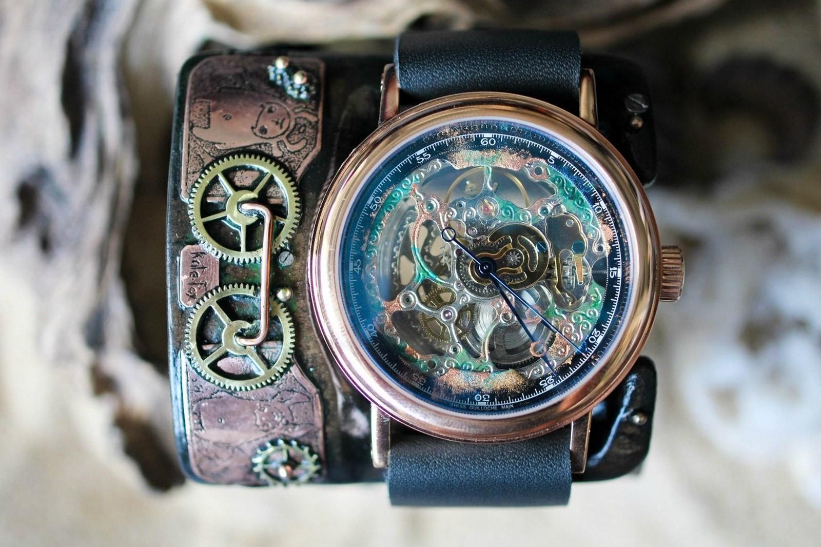 Наручные часы в стиле стимпанка