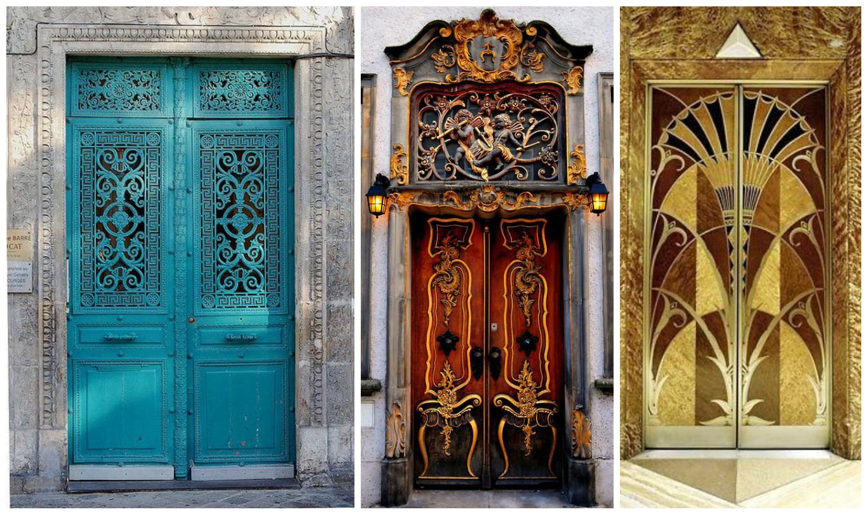 показывают дизайнерская картинка двери развешенные