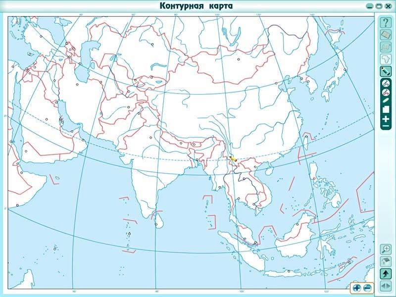 Контурные карты по географии западная азия 10 класс