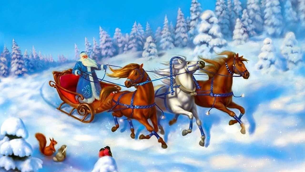 картинки тройка коней новогодние тест