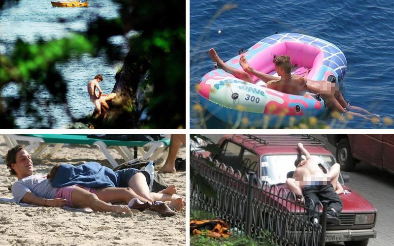 Застали за сексом на пляже