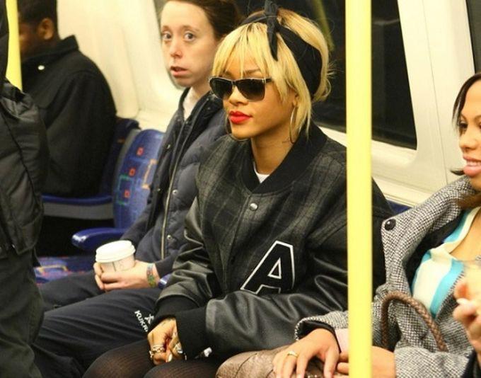 Рианна знаменитости, метро